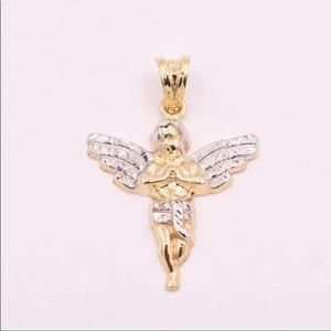 Other - SOLID GOLD Angel Pendant Two Toned Brand New